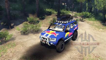 Jeep Grand Cherokee WJ Red Bull for Spin Tires