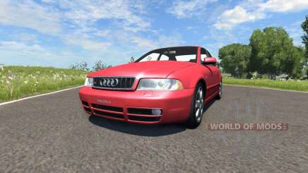 Audi S4 2000 [Pantone Red 032 C] for BeamNG Drive