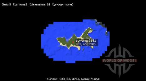 Mini map for Minecraft