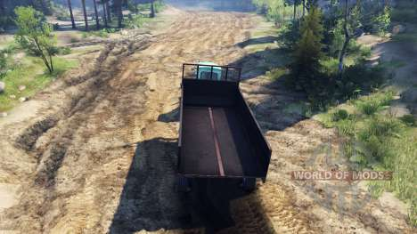Trailer for tractor T-AM for Spin Tires