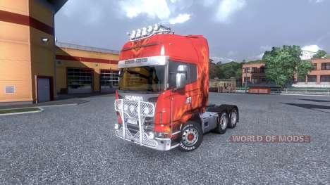 Interior for Scania -Beach- for Euro Truck Simulator 2