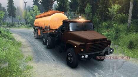 KrAZ-6437 CabCol v1 for Spin Tires