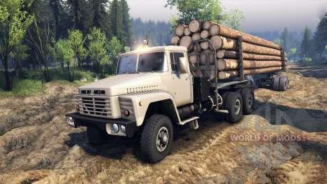 KrAZ-6437 CabCol v2 for Spin Tires