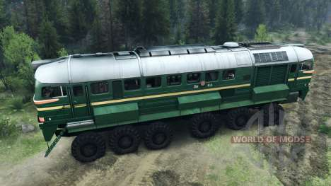 The Diesel Locomotive M62 for Spin Tires