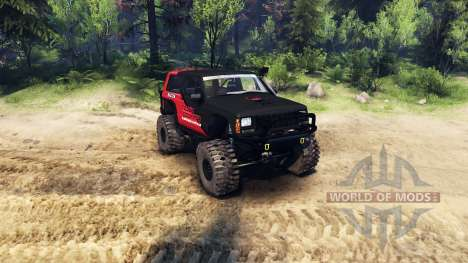Jeep Cherokee XJ v1.1 Rough Country red clean for Spin Tires