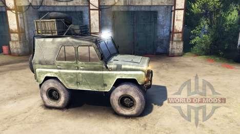 Modernized UAZ-469 v1.1 for Spin Tires