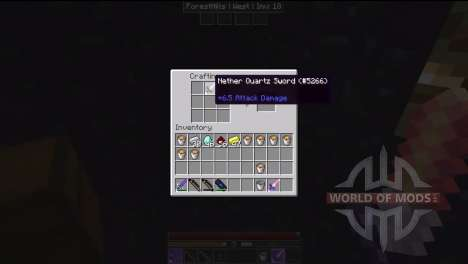 Tools made of obsidian and quartz for Minecraft