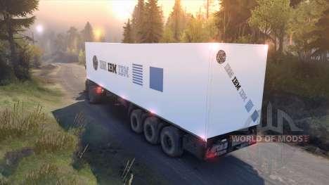 Semitrailer IBM for Spin Tires