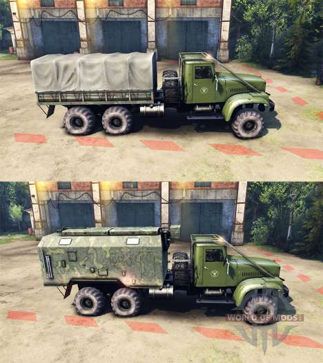 KrAZ-255B AC 8.5 Flammable v2.0 for Spin Tires