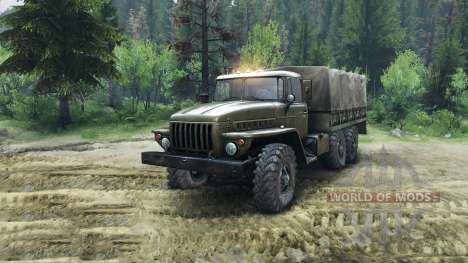 Ural-4320 Chassis for Spin Tires
