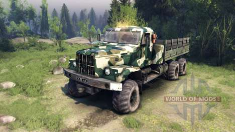KrAZ-255 camo v4 for Spin Tires