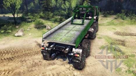 KrAZ-E v2.0 Green for Spin Tires
