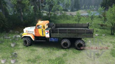 KrAZ-255 in a new color for Spin Tires
