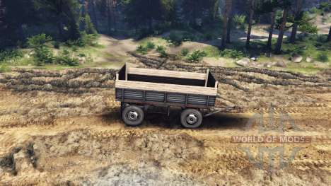 The flatbed trailer v2 for ZIL-133 G1 and ZIL-13 for Spin Tires