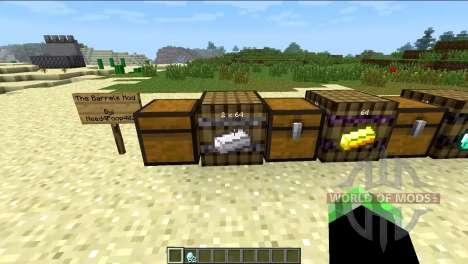 Barrels for Minecraft