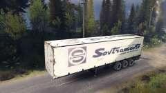 Semitrailer Sovtransavto for Spin Tires