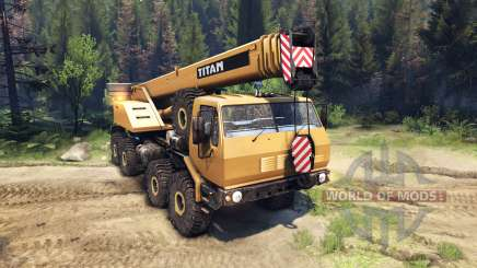 KrAZ-E v2.0 Yellow for Spin Tires
