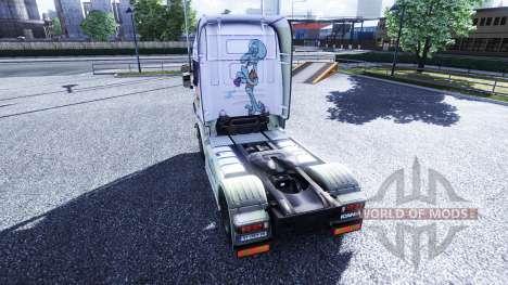 Color-Spongebob - truck Scania for Euro Truck Simulator 2
