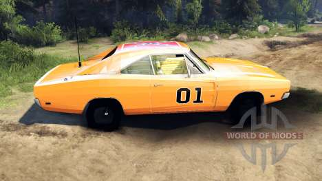 Dodge Charger General Lee for Spin Tires