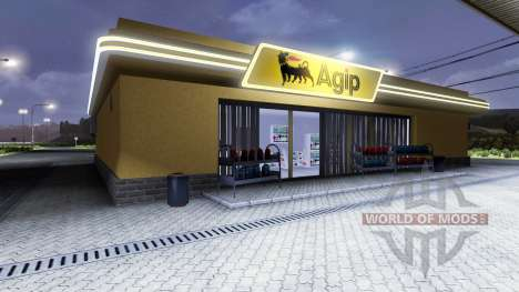 Petrol station Agip for Euro Truck Simulator 2