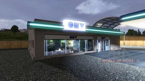 PETROL STATION OMV for Euro Truck Simulator 2