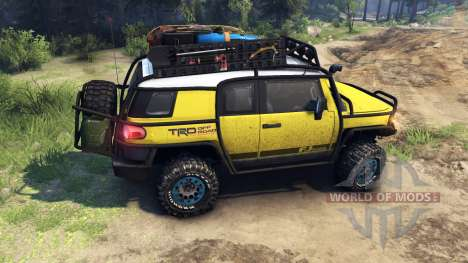 Toyota FJ Cruiser yellow for Spin Tires
