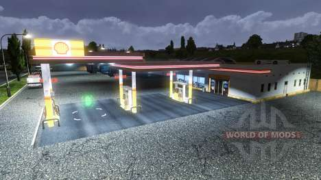 Shell gas station for Euro Truck Simulator 2