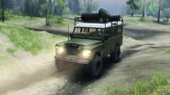 Land Rover Defender Series III v2.2 Olive for Spin Tires