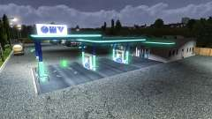 PETROL STATION OMV for Euro Truck Simulator 2