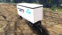 Side tent trailer MAN 19414 for Spin Tires