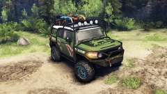 Toyota FJ Cruiser green for Spin Tires