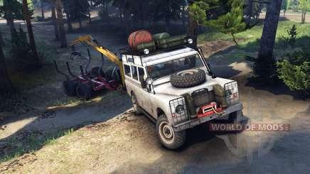 Land Rover Defender Series III v2.2 White for Spin Tires