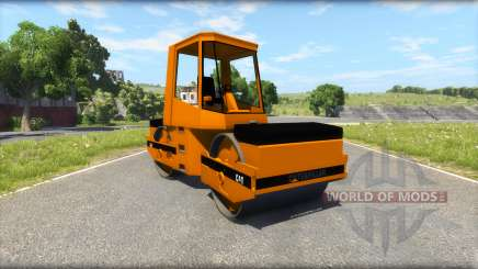 Asphalt roller Caterpillar for BeamNG Drive
