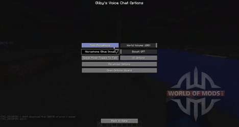 Voice chat for Minecraft