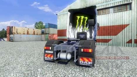 Color-Monster Energy - for DAF truck for Euro Truck Simulator 2