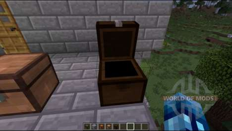 Chests of different types of wood for Minecraft