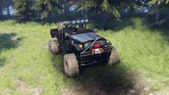 Toyota FJ40 Black for Spin Tires