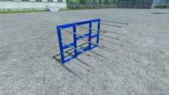 Forks for loading of non-original bales for Farming Simulator 2013