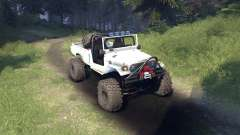 Toyota FJ40 White for Spin Tires