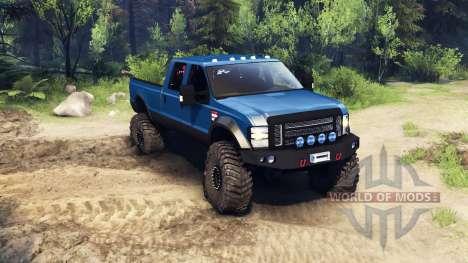 Ford F-350 Super Duty 6.8 2008 v0.1.0 blue for Spin Tires