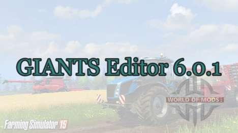 GIANTS Editor 6.0.1 for Farming Simulator 2015