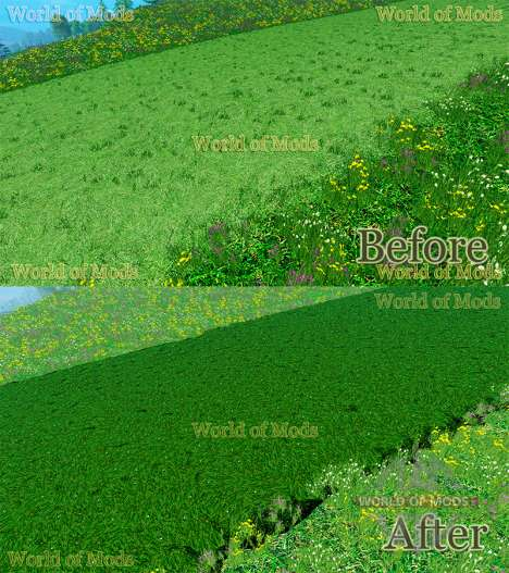 New textures of cut grass and hay for Farming Simulator 2015