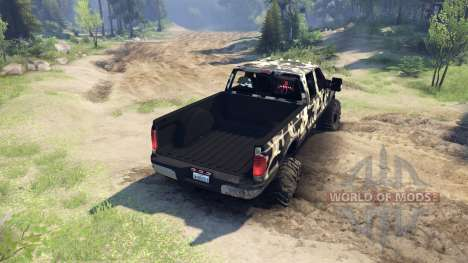 Ford F-350 Super Duty 6.8 2008 v0.1.0 camo2 for Spin Tires