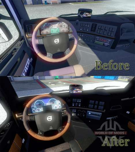 New interior Volvo for Euro Truck Simulator 2