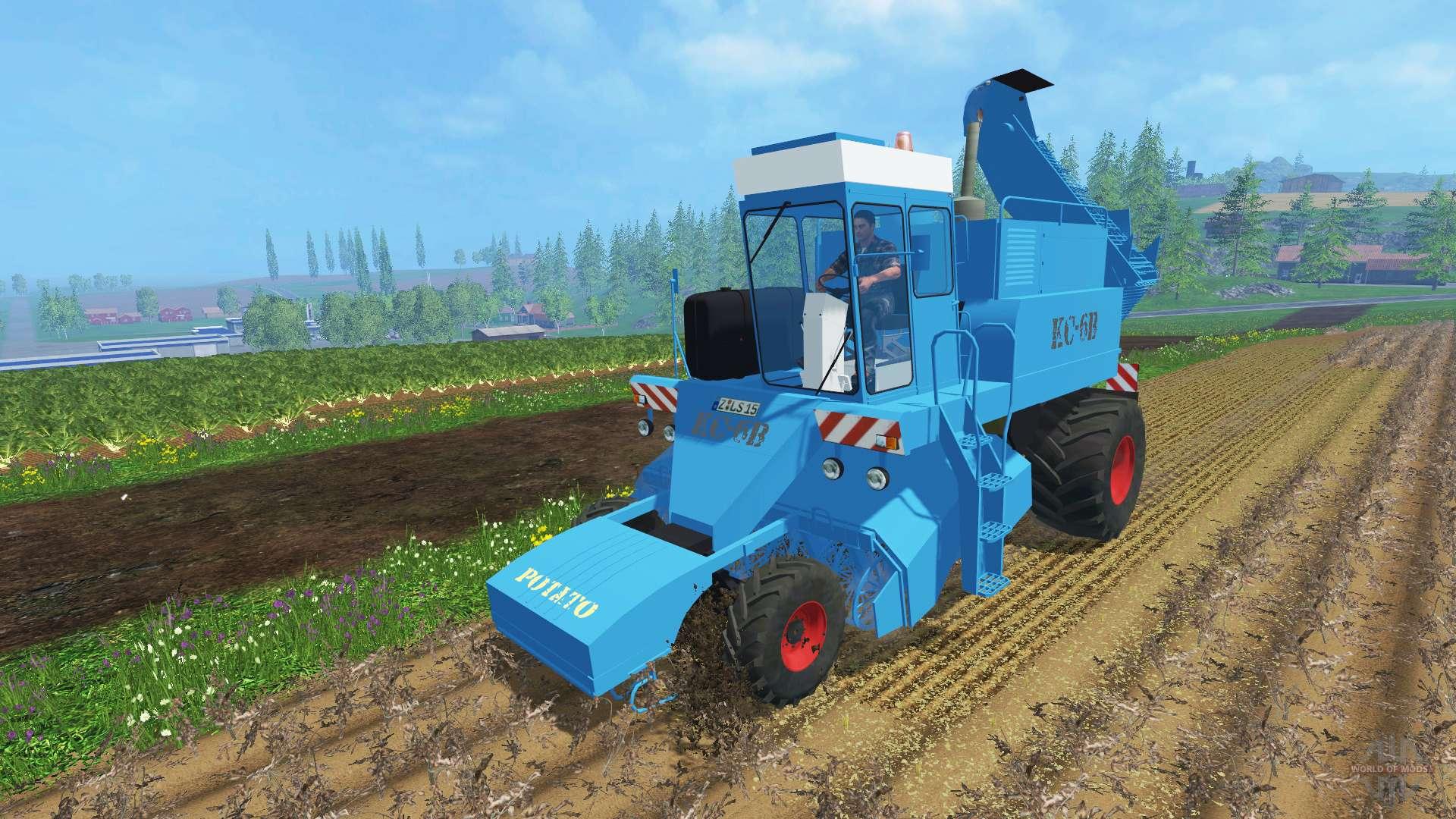 Sugar Beet Harvester Ks 6b Clean For Farming Simulator 2015