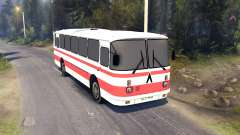 ЛАЗ-699Р red stripes for Spin Tires