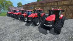 The sounds of engines of tractors Case IH Magnum