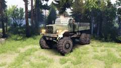 KrAZ-255 6x6 for Spin Tires