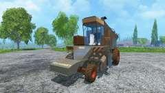 Sugar beet harvester KS-6B dirt