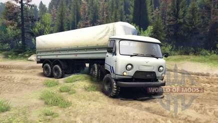 UAZ-3909 6x6 v2.0 for Spin Tires